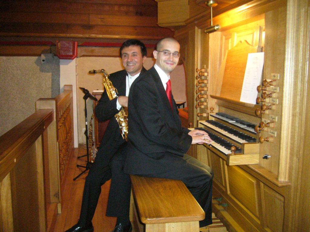 Fabien Chouraki (saxophone) et Benjamin Intartaglia (orgue)